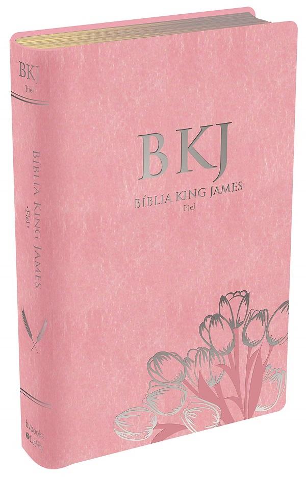Bíblia King James Fiel 1611 - Rosa