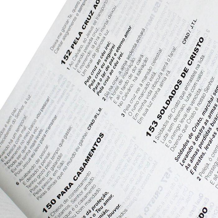 Bíblia Letra Grande com Harpa Cristã | Concordância e Dicionário | Índice Marrom Pedra