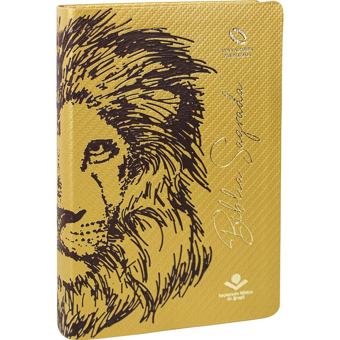 Bíblia Letra Grande NAA Capa Leão