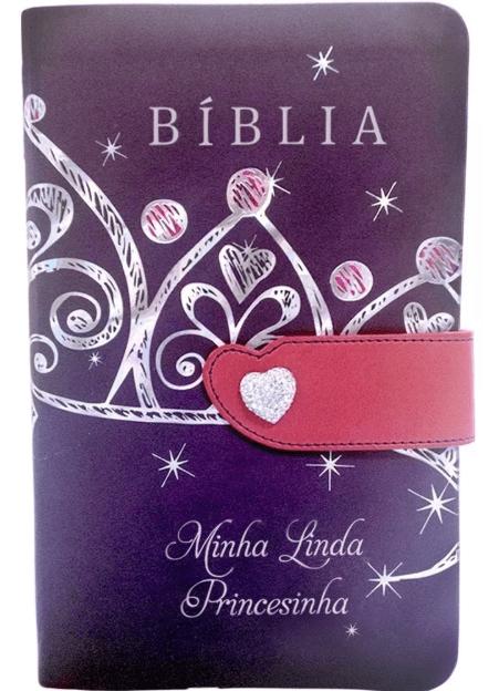 Biblia Minha Linda Princesinha   Capa Flexivel Com Fecho