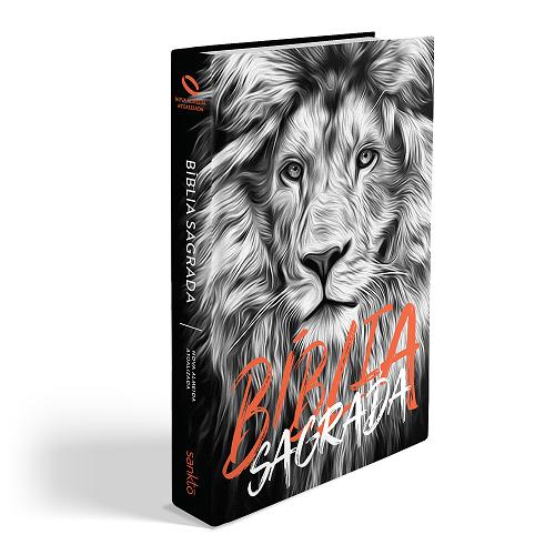 Bíblia NAA Leão Preto e Branco