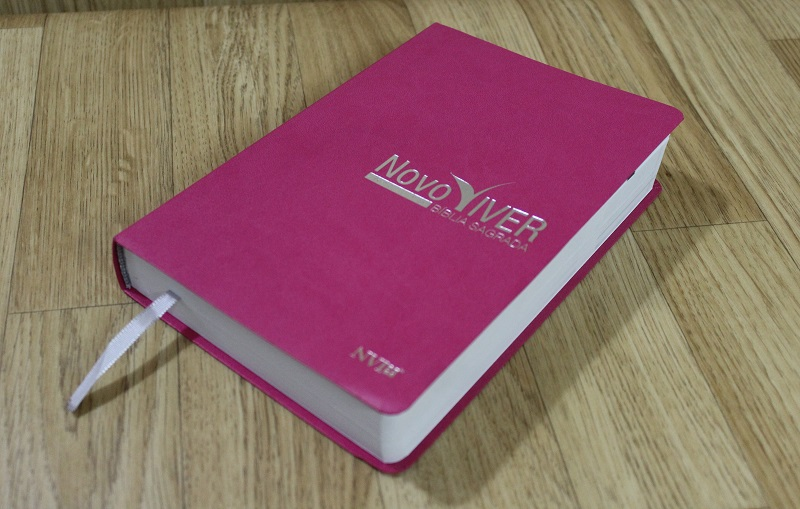 Bíblia Novo Viver NVI - Semi Luxo Rosa