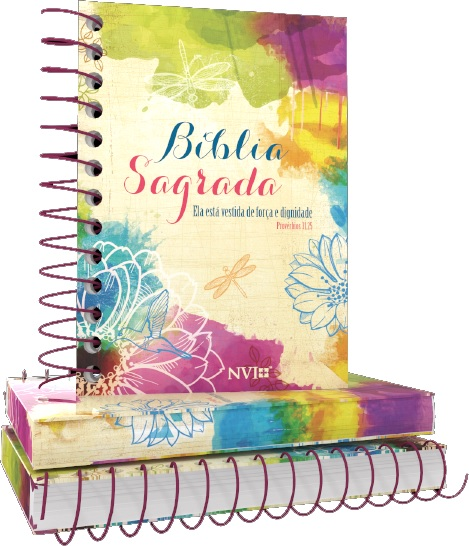 Bíblia NVI Anote Espiral - Ela está vestida de Força e Dignidade