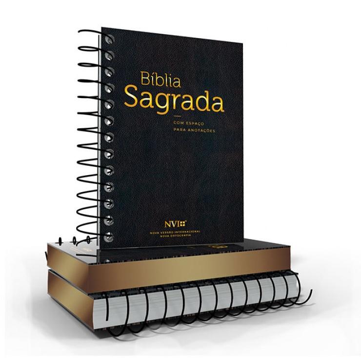Bíblia NVI Anote Espiral Preta