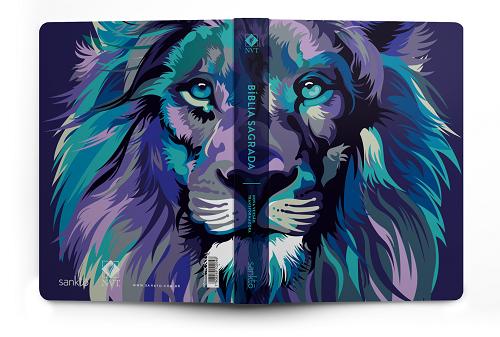 Bíblia NVT Lion Colors Cool | Soft Touch