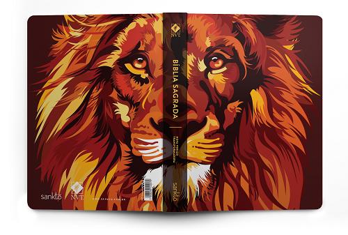 Biblia NVT Lion Colors Fire   Soft Touch