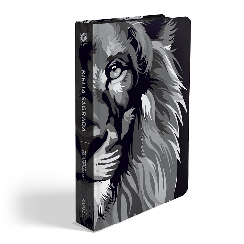 Biblia NVT Lion Colors Preto e Branco | Soft Touch