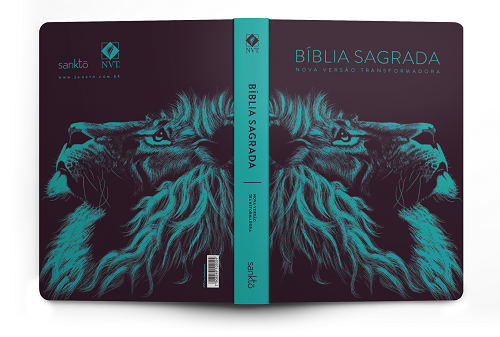Bíblia NVT Lion Head Turquesa | Soft Touch