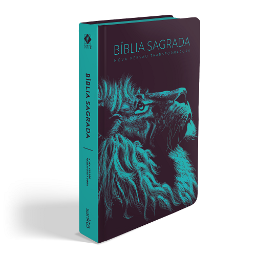 Biblia NVT Lion Head Turquesa | Soft Touch