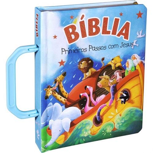 Bíblia Primeiros Passos com Jesus - Azul