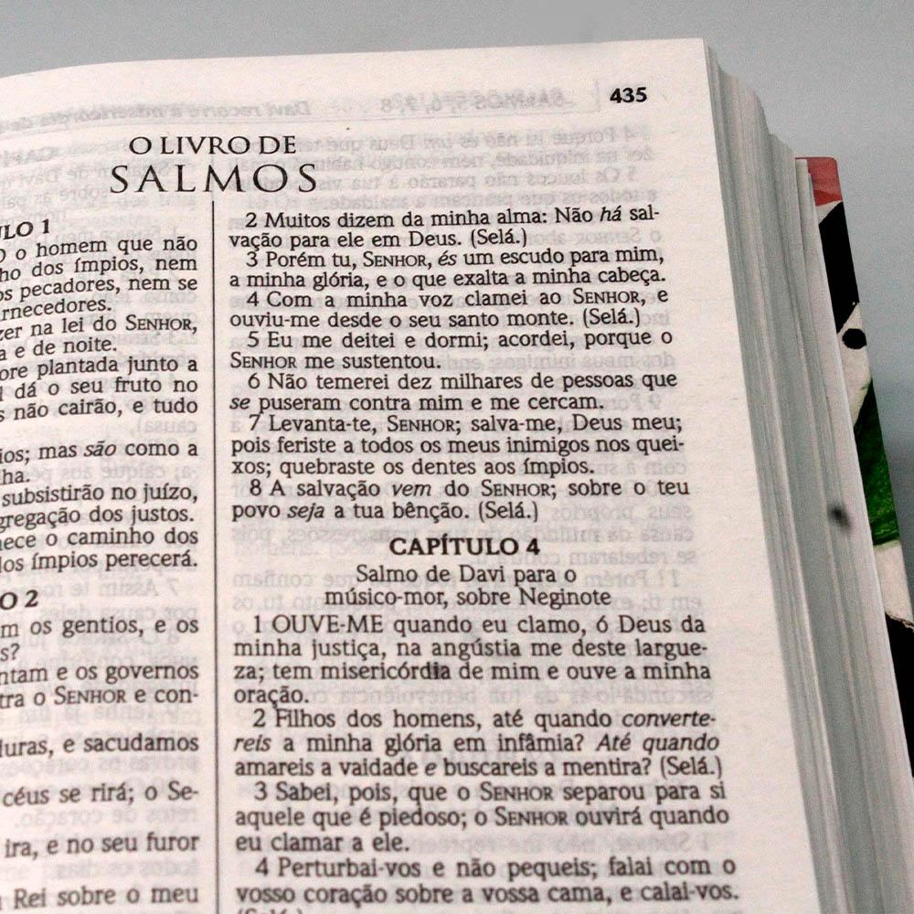 Bíblia Sagrada | Capa Dura | Floral Branca | ACF
