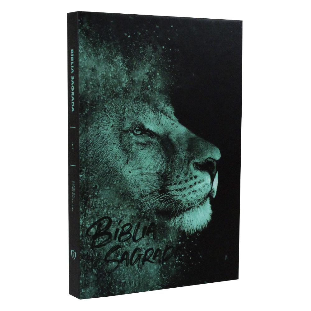 Bíblia Sagrada | Capa Dura | Leão Azul | ACF