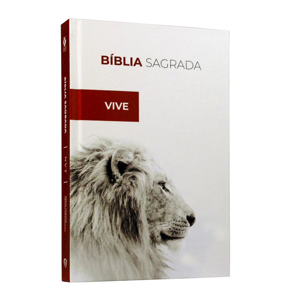 Bíblia Sagrada | Capa Dura | Leão Ele Vive | NVT