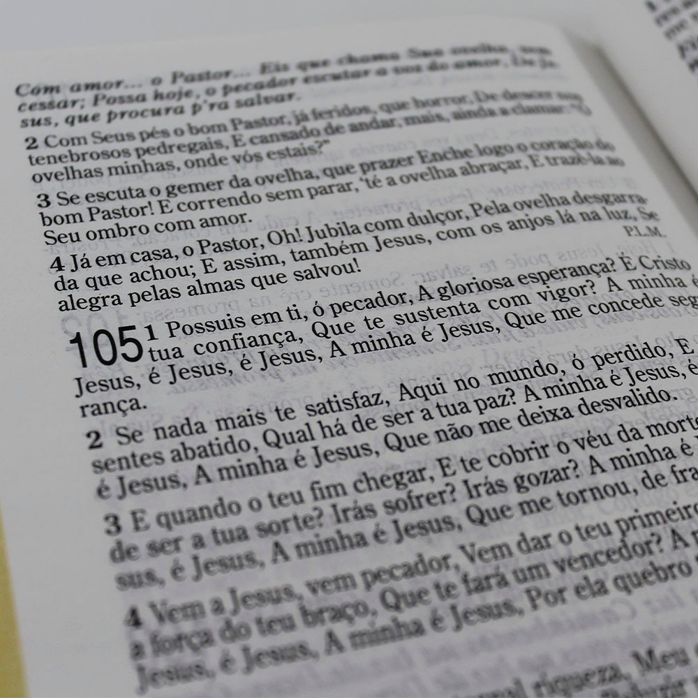 Bíblia Sagrada Letra Gigante com Harpa Cristã Semiflex Preto e Bordô