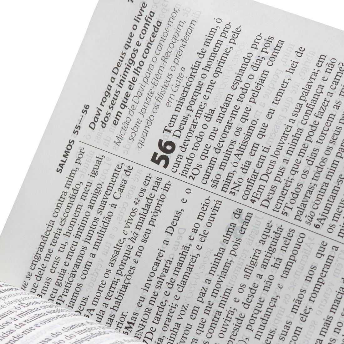 Bíblia Sagrada Letra Gigante Com Índice   ARC - Preto Nobre