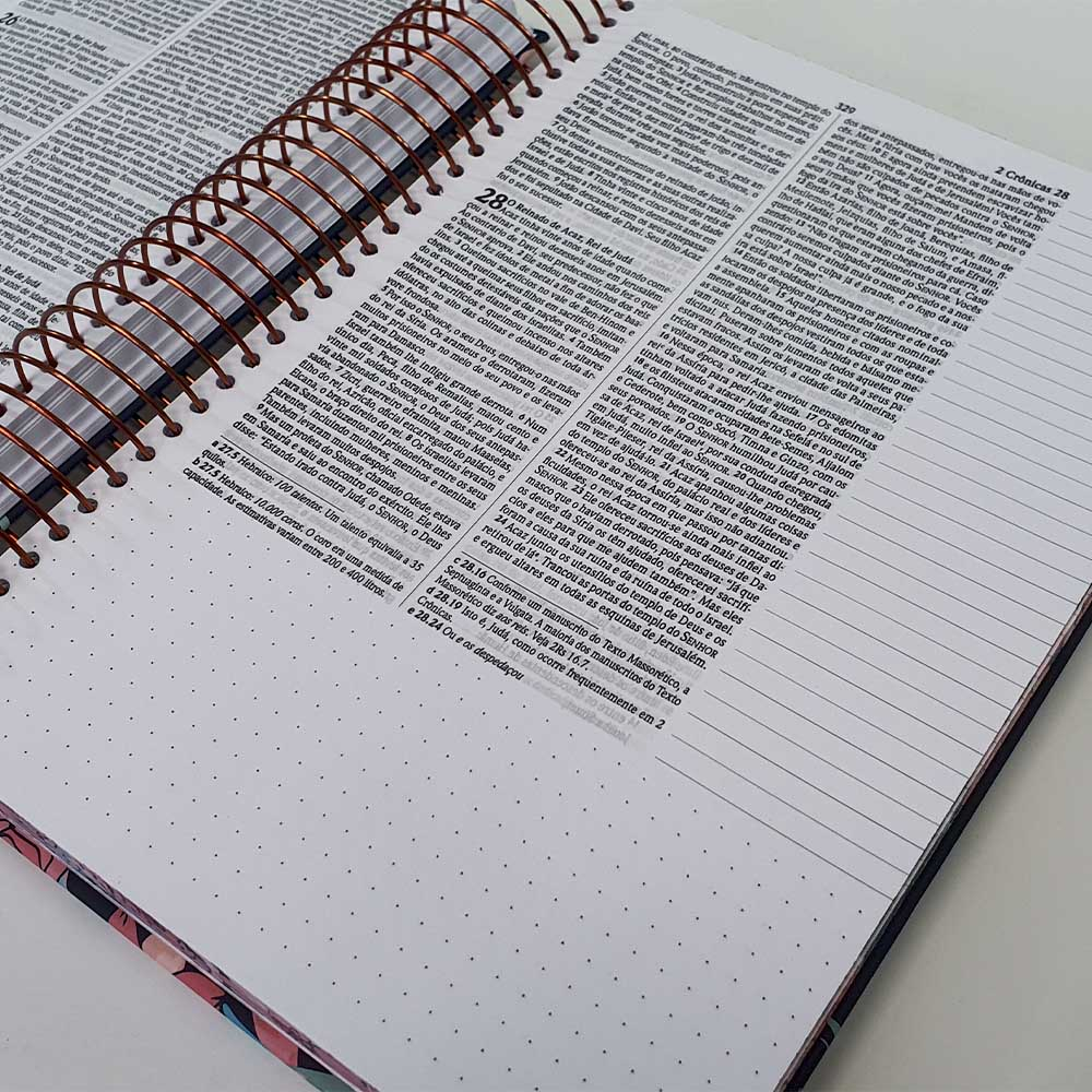 Bíblia Sagrada | NVI | Anote | Espiral | Rosas