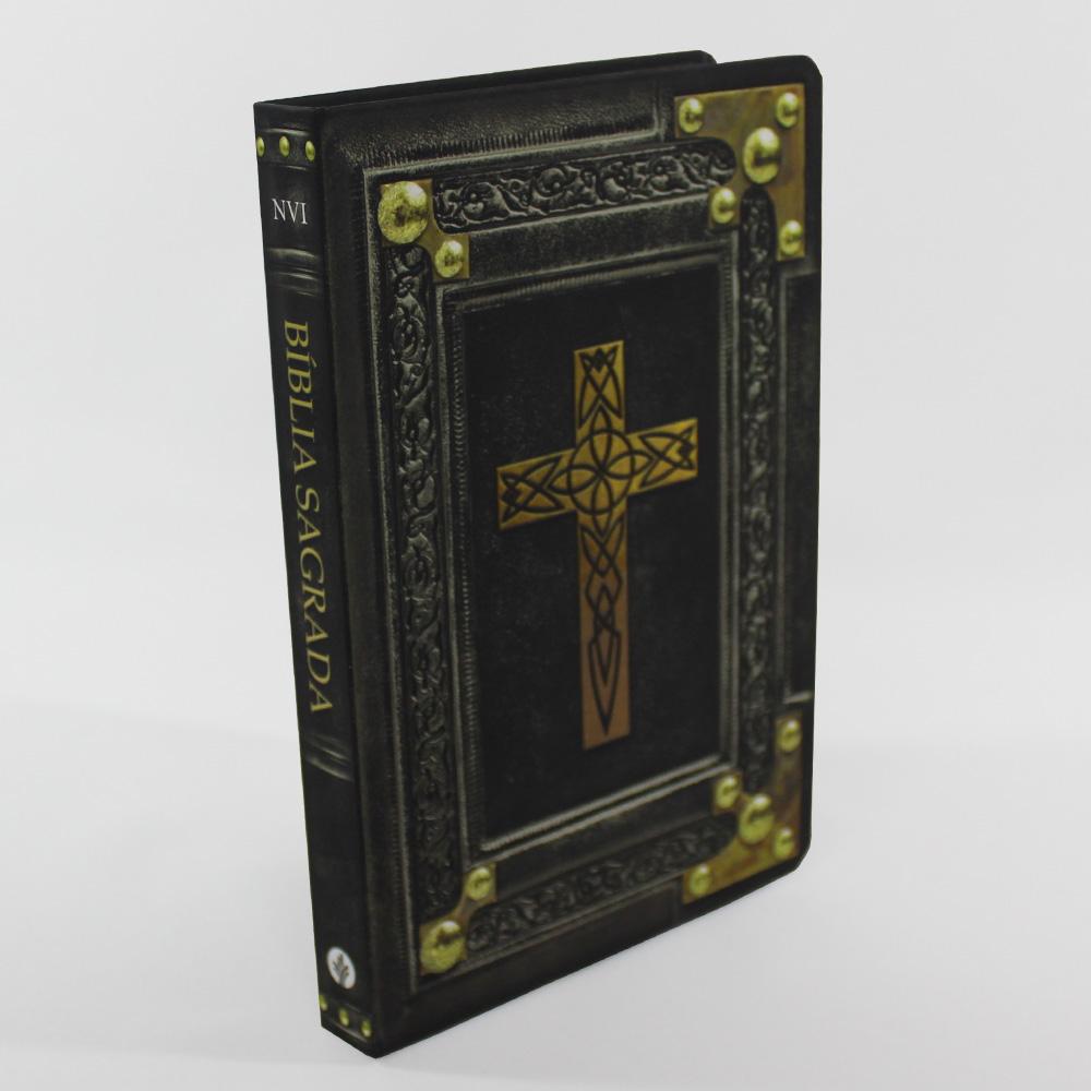 Bíblia Sagrada Vintage Cruz Preta - NVI