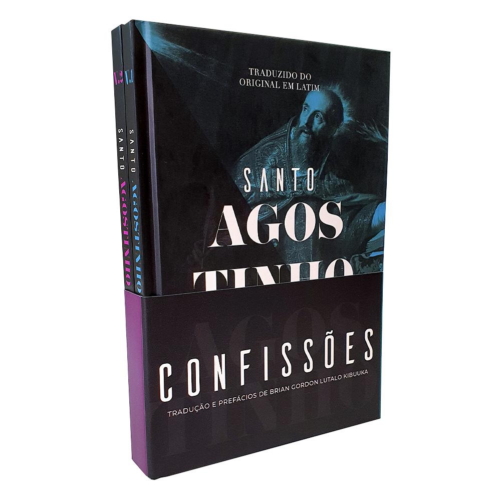Box 2 Livros   Confissões   Capa Dura   Santo Agostinho