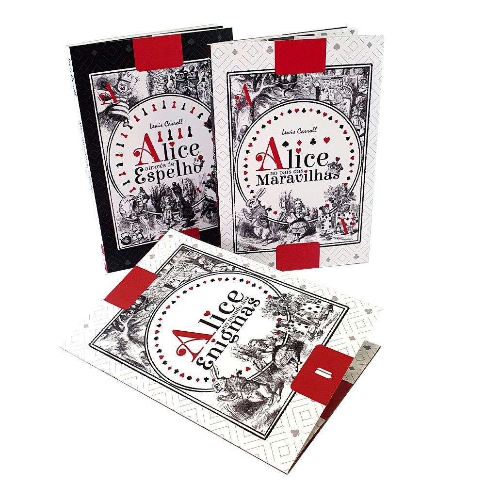 Box 2 Livros I Alice Através do Espelho |  Alice no País das Maravilhas + Complemento  Alice no Mundo dos Enigmas | LFC