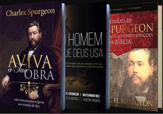 Box Charles Spurgeon | Aviva a tua Obra - Homem que Deus Usa - Sermões grandes orações