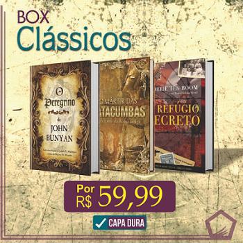 Box Clássicos Cristãos Capa Dura | Peregrino | Mártir das Catacumbas | Refúgio Secreto