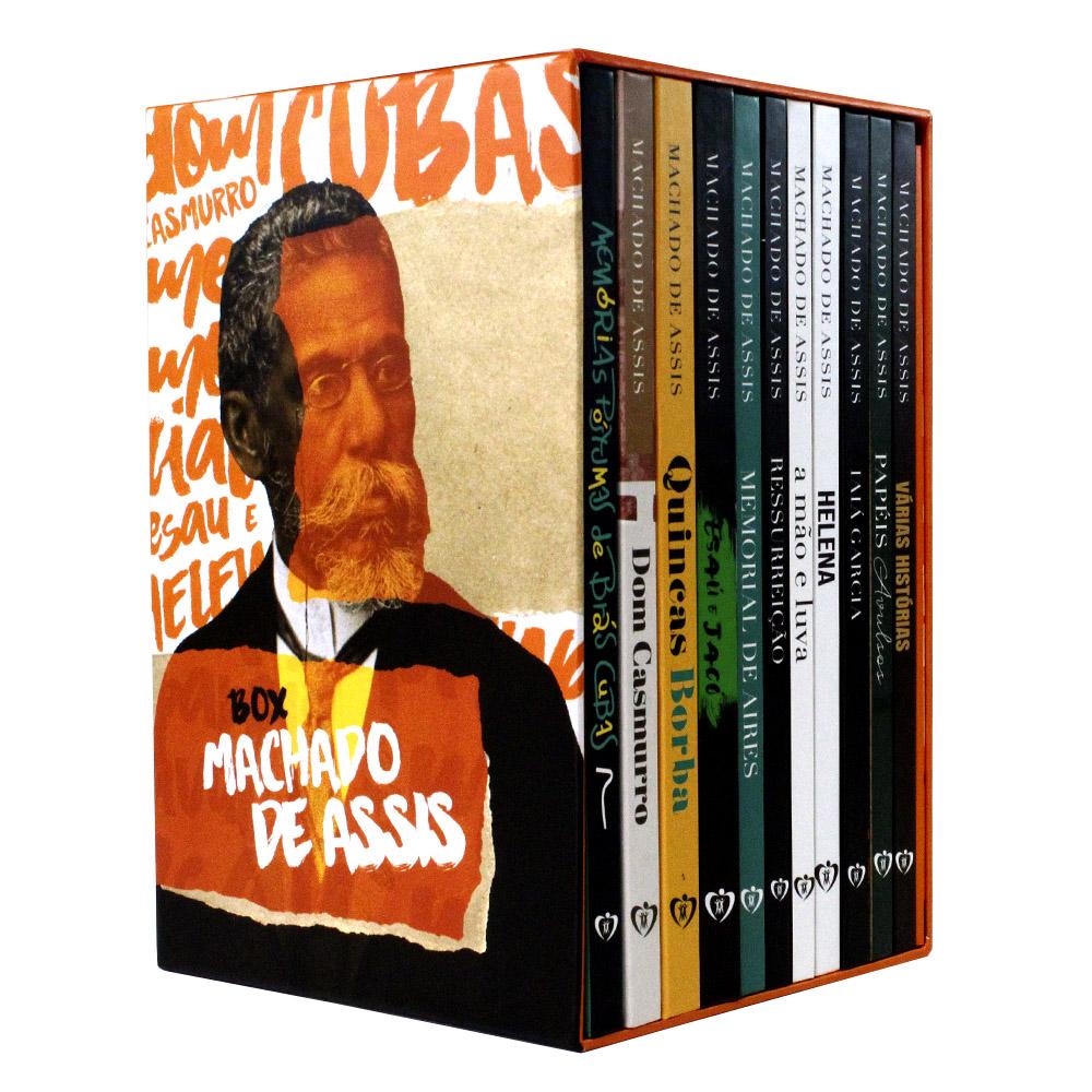 Box Machado de Assis 11 Livros Capa Dura: Dom Casmurro, Memórias Póstumas de Brás Cubas e mais