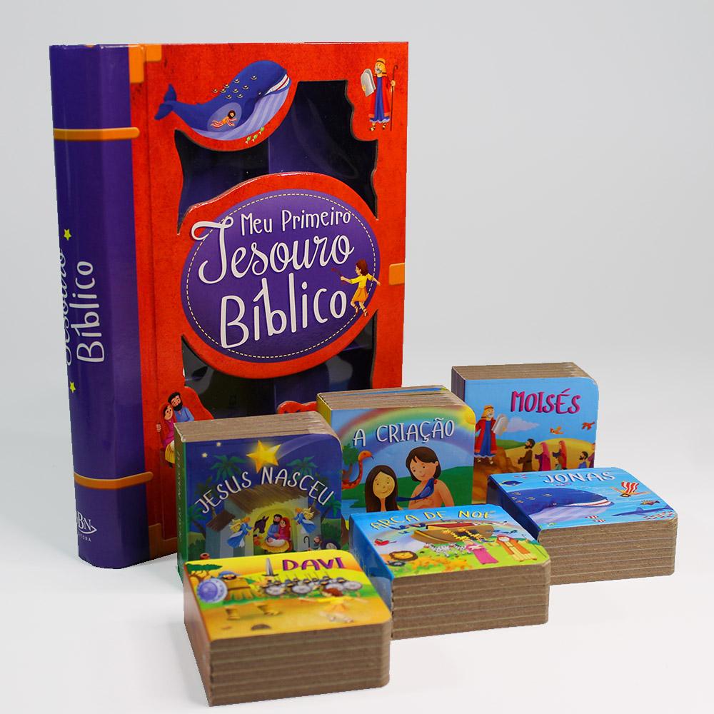 Box Meu Primeiro Tesouro Bíblico   06 Livros
