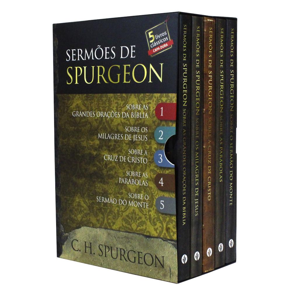 Box Sermões de Spurgeon | 5 Livros Capa Dura