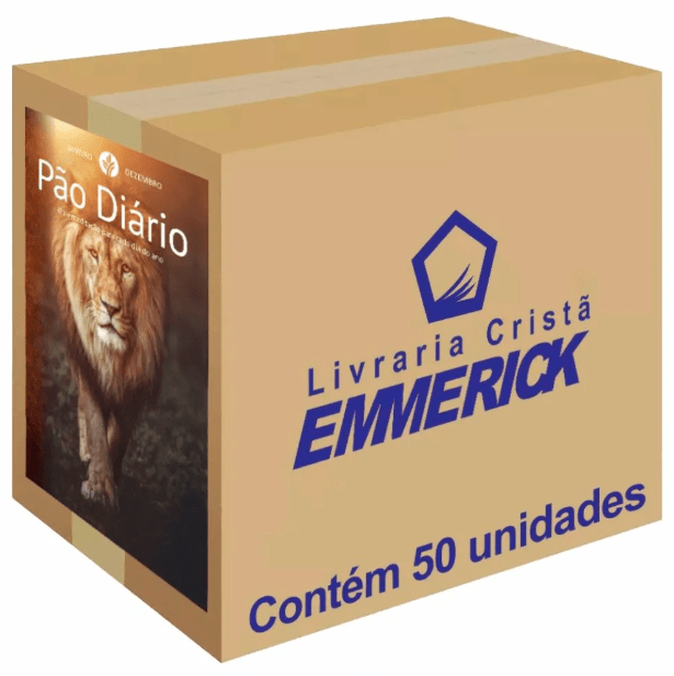 Caixa Pão Diário Capa Leão | 50 Unidades