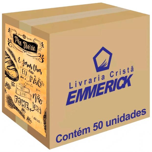 Caixa Pão Diário Capa Lettering | 50 Unidades