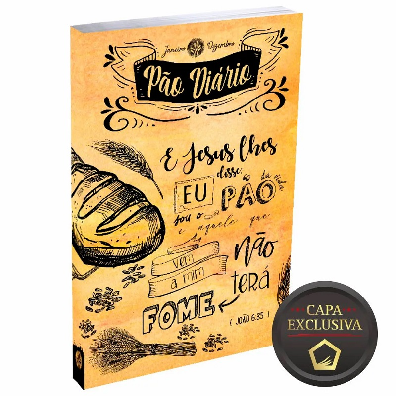 Caixa Pão Diário   Capa Lettering   50 Unidades