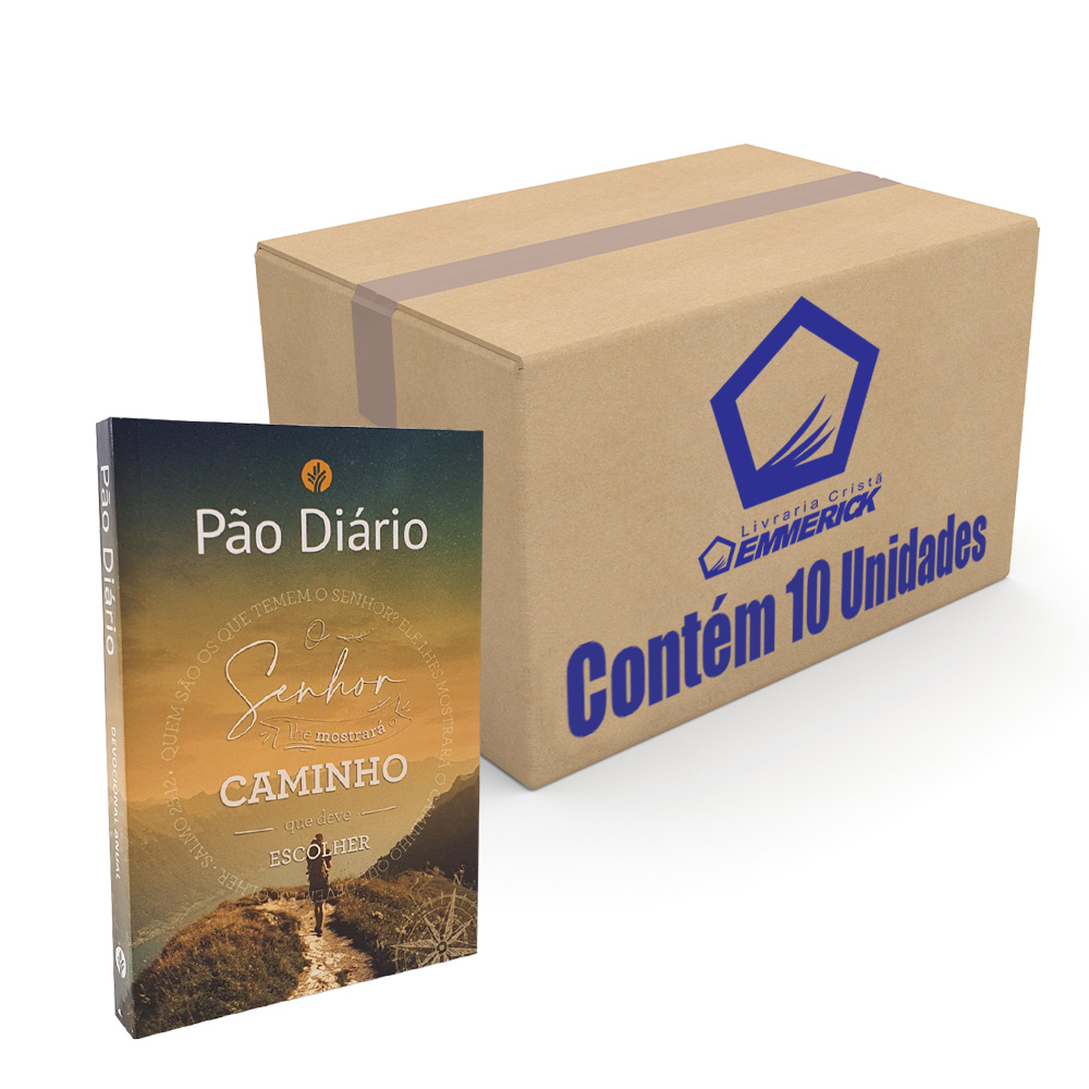 Caixa Pão Diário | Volume 25 | Ano 2022 | O Senhor lhe Mostrará o Caminho | 10 Unidades