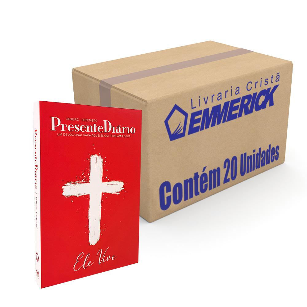 Caixa Presente Diário | Edição Especial | Capa Cruz Ele Vive - 20 unidades