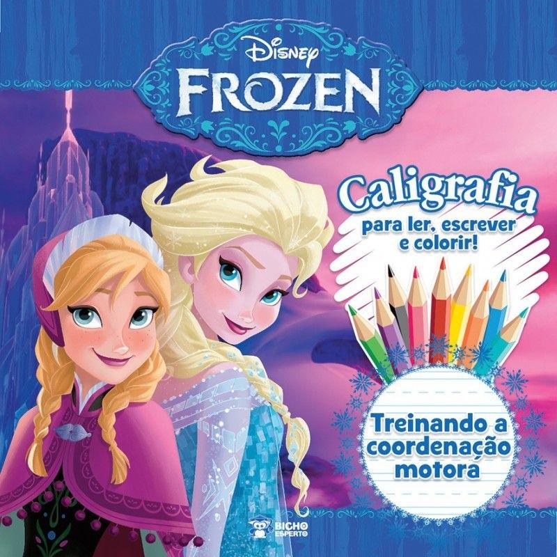 Caligrafia Treinando Coordenação Motora - Frozen Disney