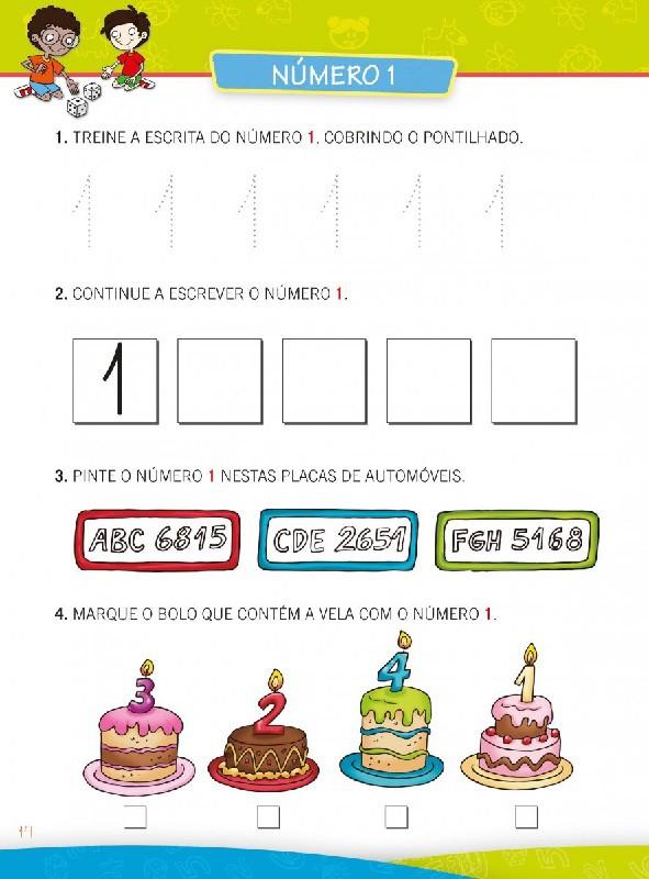 Cartilha de Matemática Caminho do Saber - Aprendendo os Números