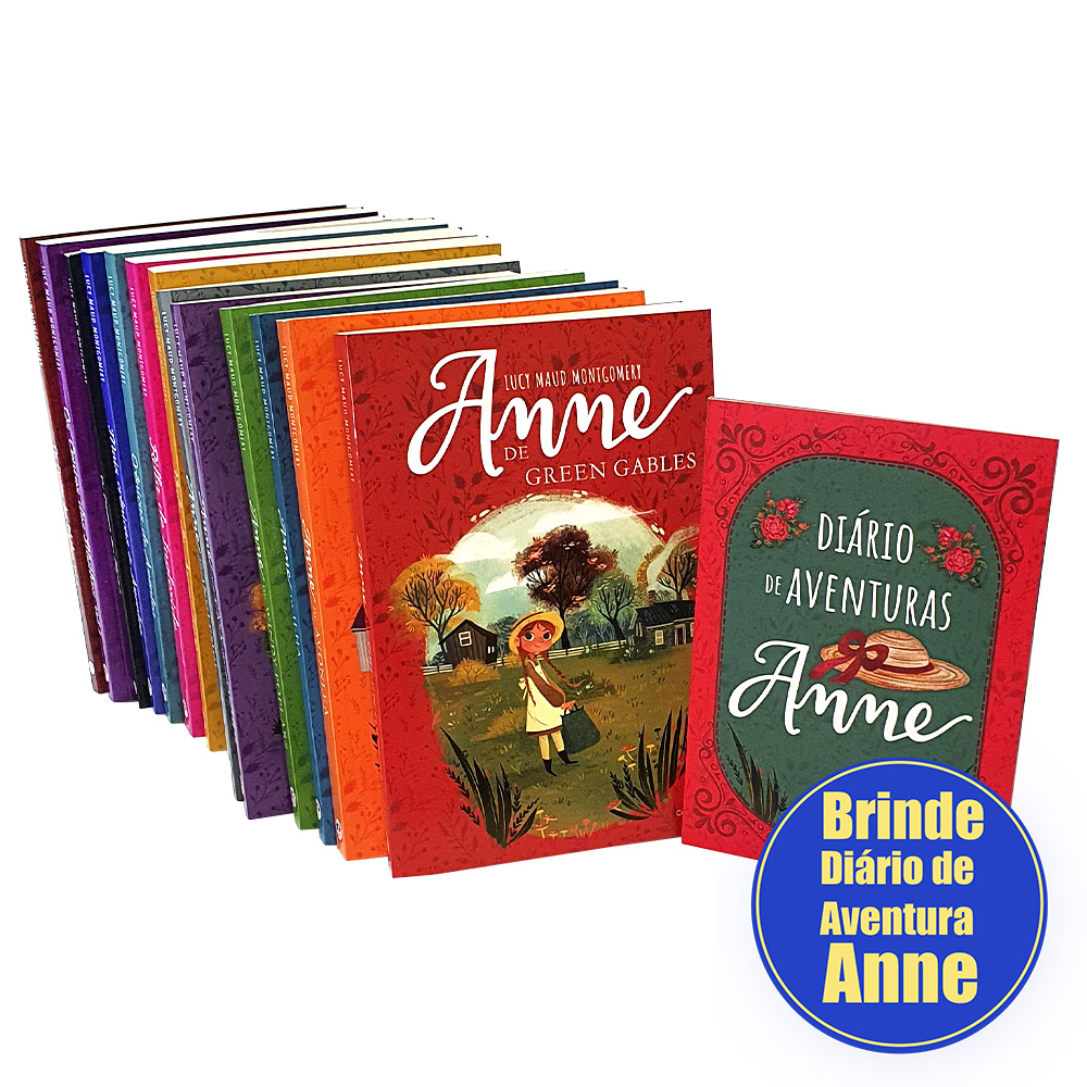 Coleção Completa Anne de Green Gables | 13 Livros + Brinde Diário de Aventuras Anne