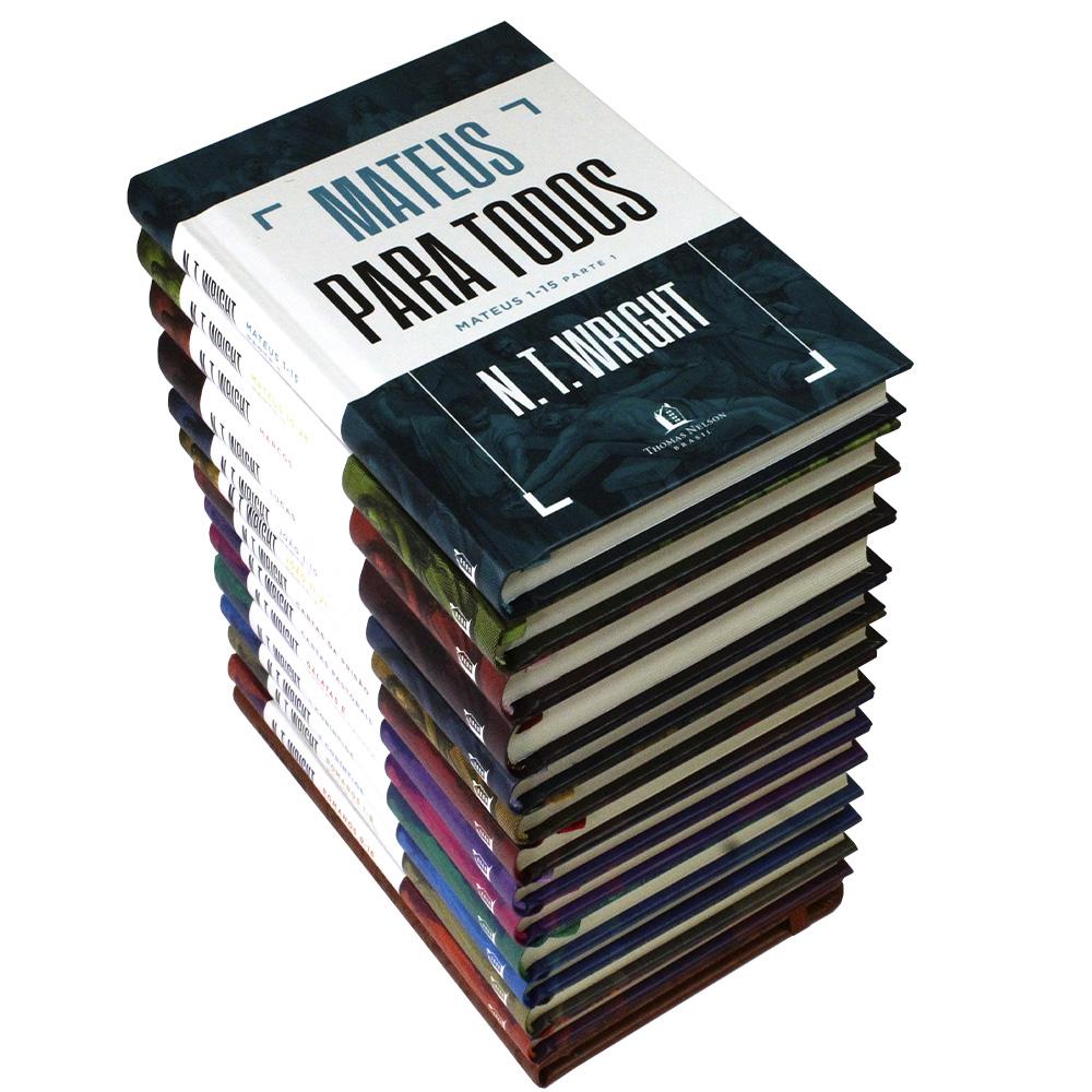 Coleção Completa N. T. Wright Para Todos | 13 Livros + Bloco Anotações Moleskine