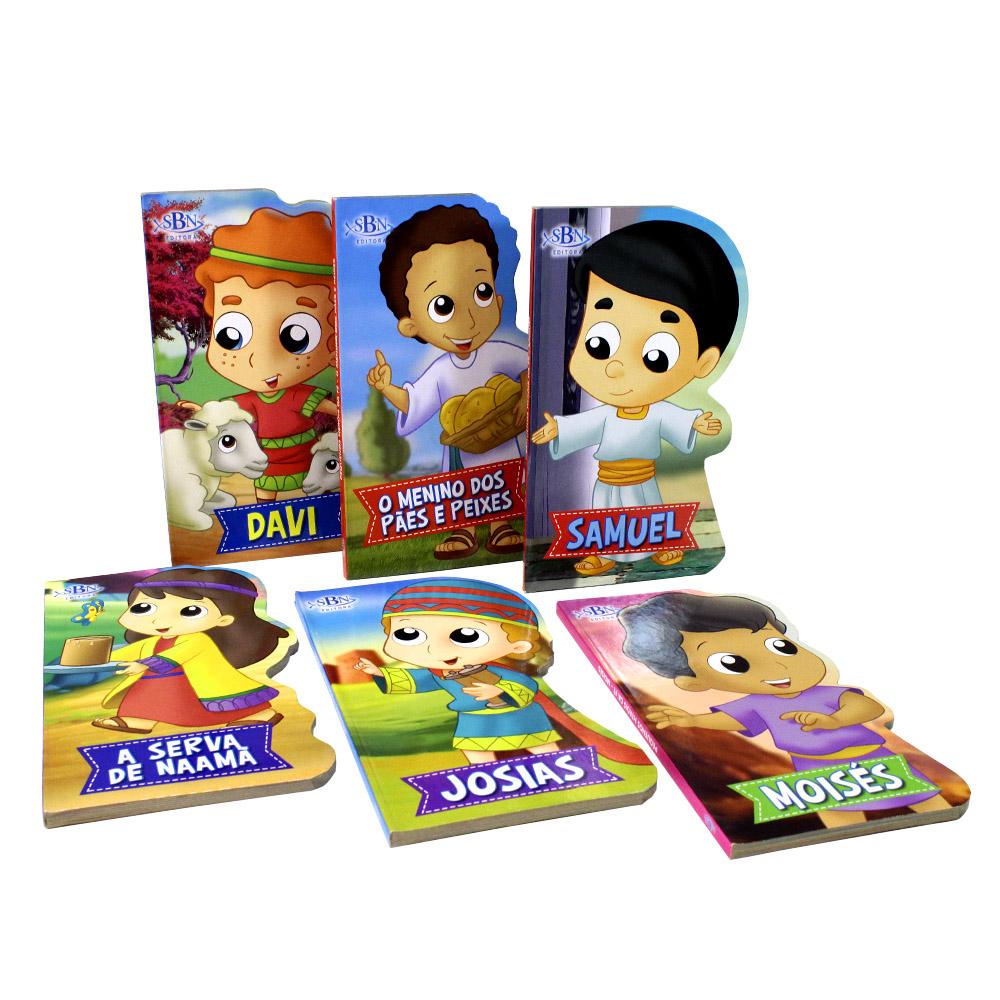 Coleção Pequenos Heróis Da Fé | 06 Livros | Todolivro | SBN