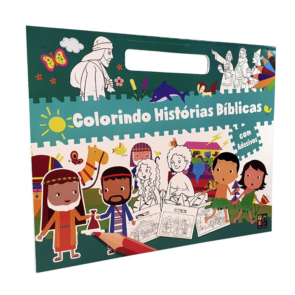 Colorindo Histórias Bíblicas com Adesivos | Pé da Letra