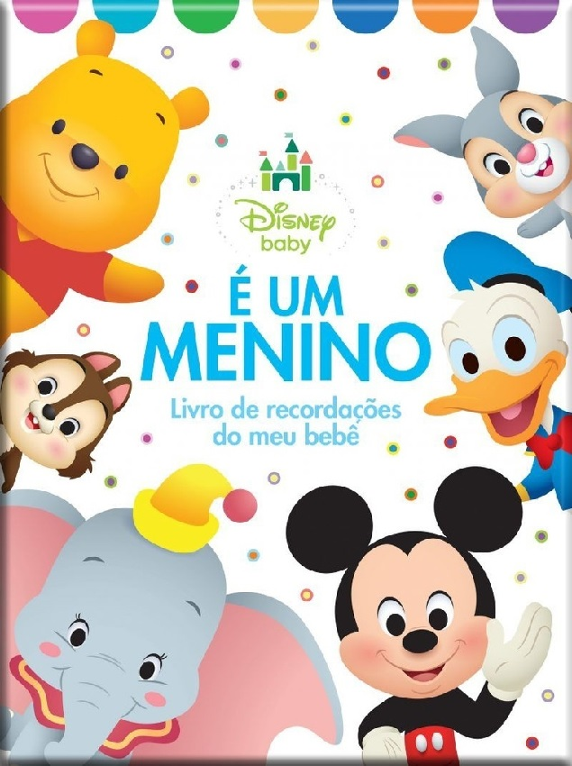É um Menino - Livro de Recordações do meu Bebê - Disney Baby