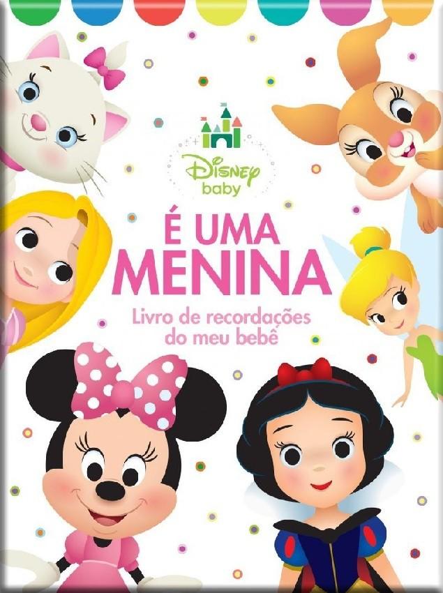 É uma Menina - Livro de Recordações do meu Bebê - Disney Baby