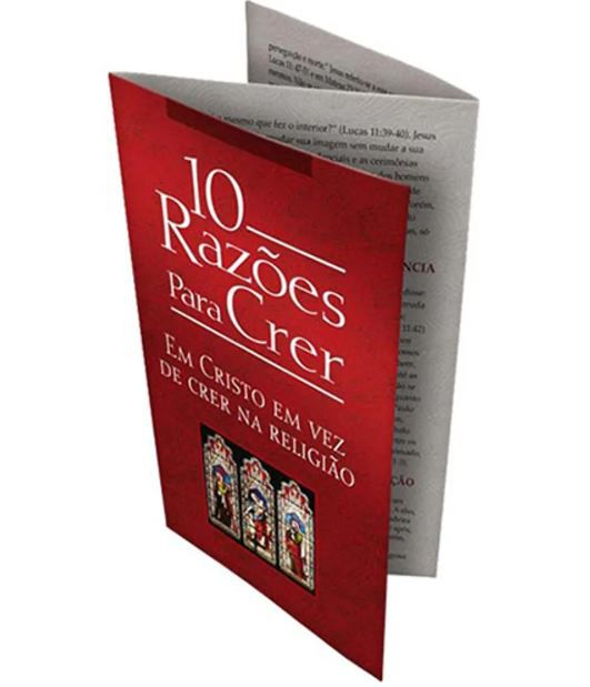 Folheto 10 Razões Para Crer em Cristo em vez de Crer na Religião | 20 unds.