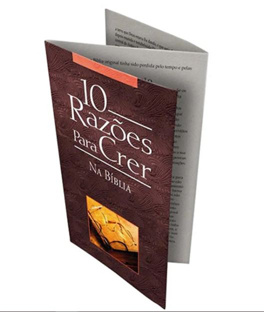 Folheto 10 Razões Para Crer na Bíblia | 20 unds.