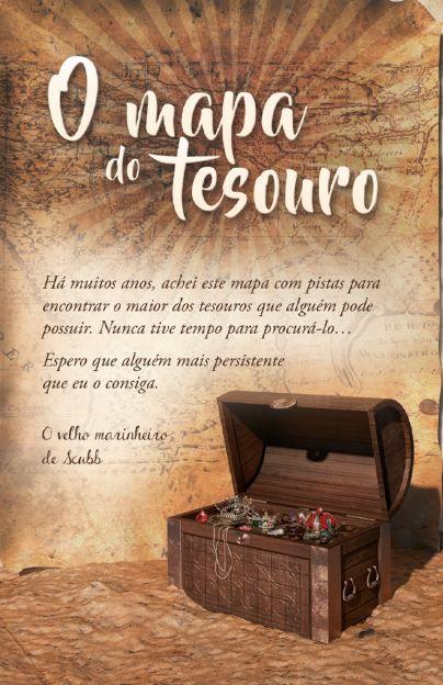 Folheto Evangelístico O Mapa do Tesouro | 20 unds.