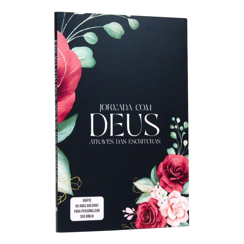 Jornada com Deus Através das Escrituras | Capa Floral | + adesivos
