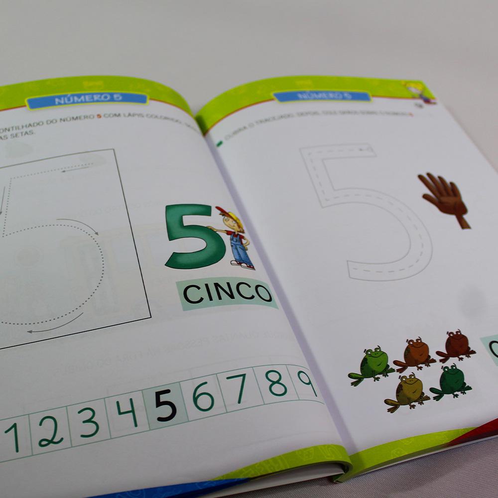 Kit 02 Cartilha Caminho do Saber - Alfabetização e Números
