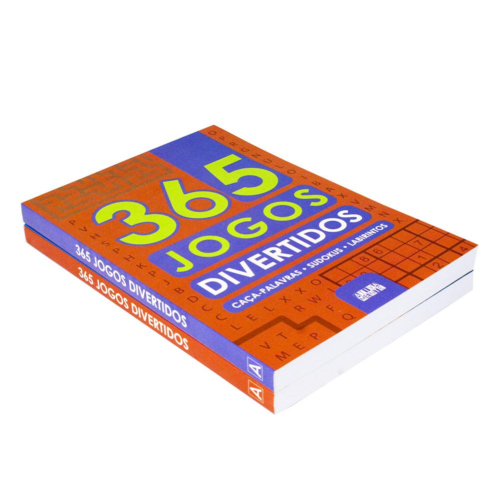 Kit 02 Livros | 365 Jogos Divertidos - Caça Palavras - Sudokus - Labirintos