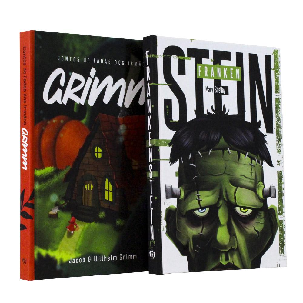Kit 02 Livros Frankenstein | Contos de Fadas dos Irmãos Grimm - Capa Dura
