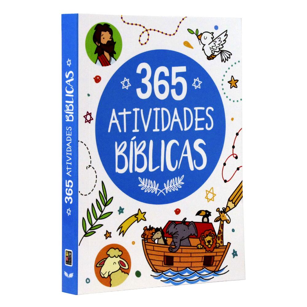 Kit 03 Livros | 365 Histórias Bíblica | 365 Atividades Bíblicas | 365 Desenhos da Bíblia Colorir
