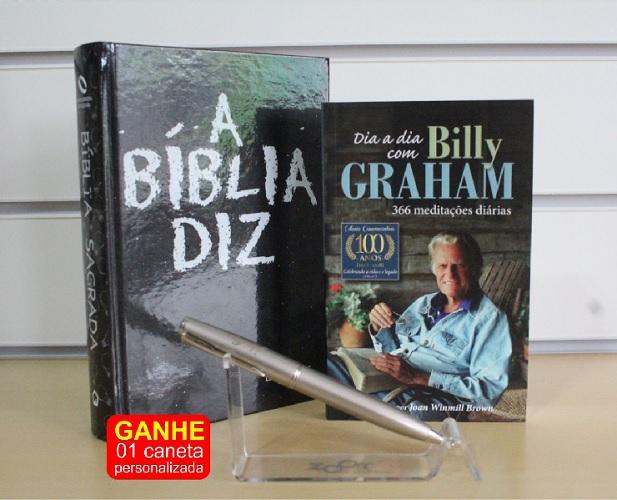 Kit 04 - A Bíblia Diz | Dia a Dia Billy Grahan | Caneta Luxo